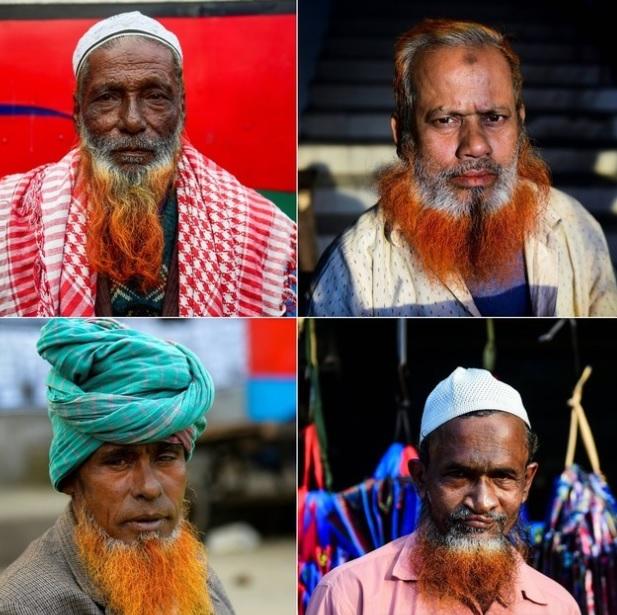 ダッカでオレンジ色のひげが流行-預言者ムハンマドの教えが影響?-