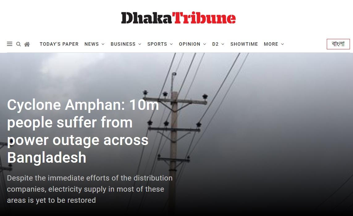 サイクロン「アンファン」の影響で、今も1000万人の家で停電復旧せず