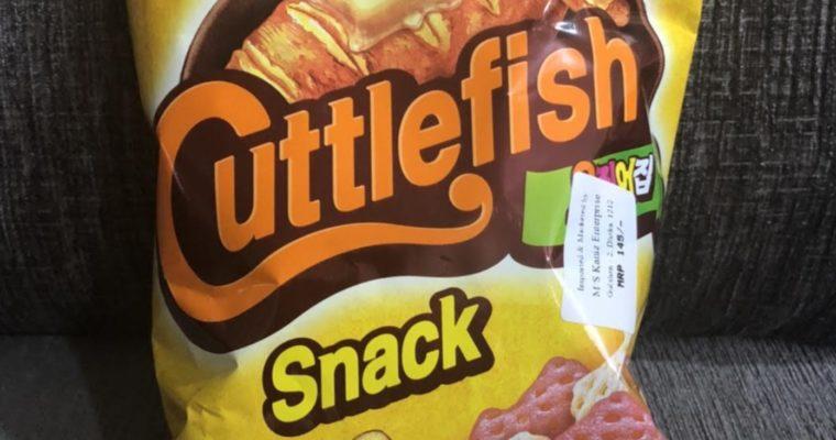 「サッポロポテト似の韓国スナック」NONGSHIMのCuttlefish snack