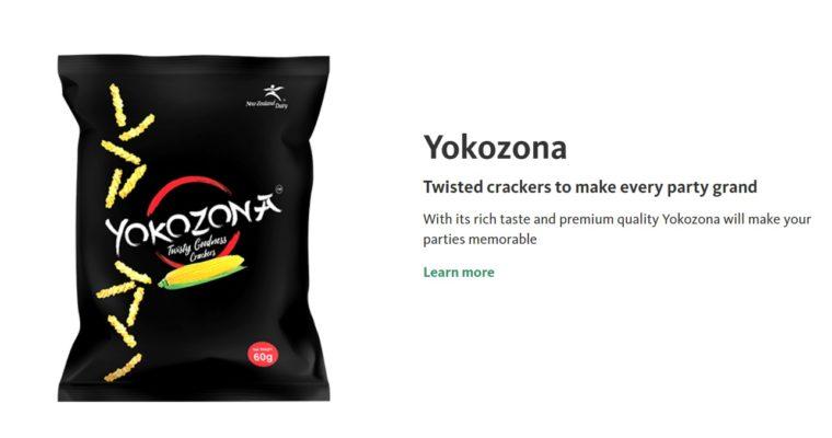 「名前はイマイチだけど、味はピカイチ!日本の懐かしい味を楽しめるひねり揚げ風のお菓子」New Zealand Dairy Products Bangladesh LtdのYOKOZONA