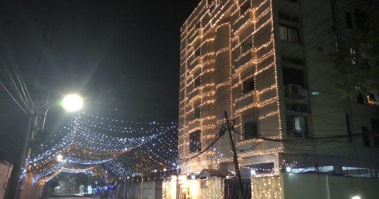 バングラデシュでもクリスマスイルミネーション!?