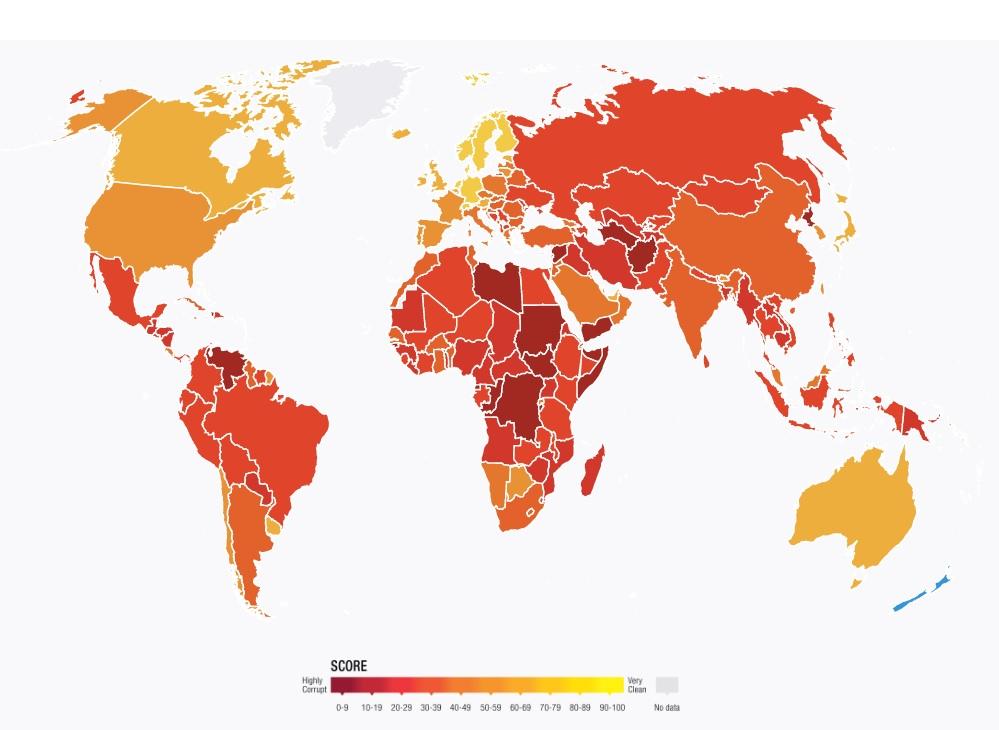 バングラデシュの清廉度は180か国・地域中146位、NGOの2020年汚職調査