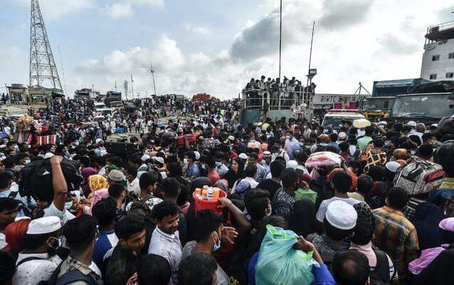 バングラデシュの新規感染者、過去最多の8364人!! 労働者数万人が首都脱出